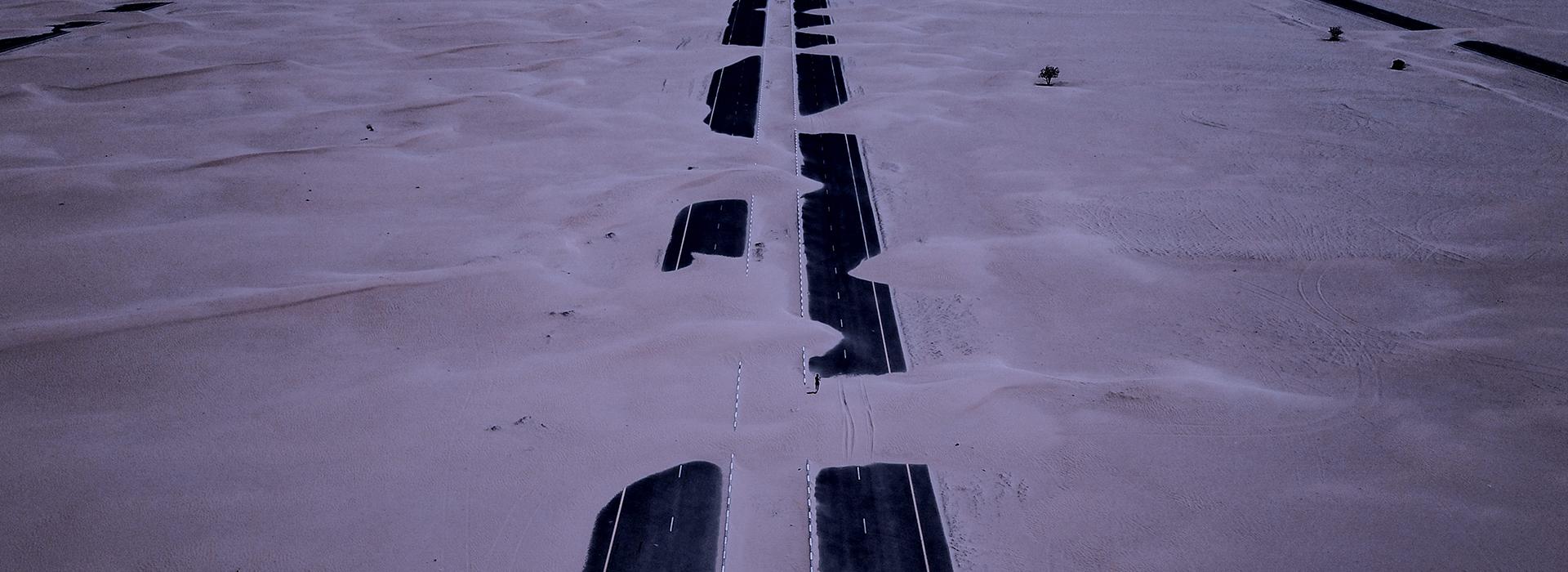 Pathway through the snow